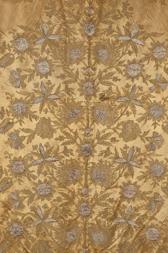 Ottoman Embroidered Gold Silk Hanging | MasterArt